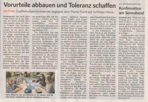 2015-04-28--BZ-Artikel--Aktionstag - Vorurteile abbauen und Toleranz schaff